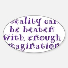reality_btle3 Sticker (Oval)