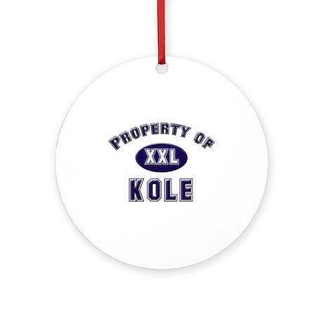 Property of kole Ornament (Round)