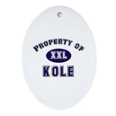 Property of kole Oval Ornament
