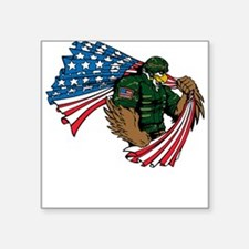 American Eagle Soldier Sticker