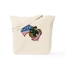 American Eagle Soldier Tote Bag