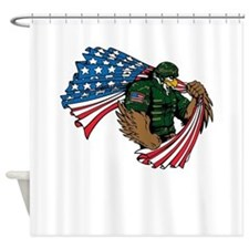 American Eagle Soldier Shower Curtain