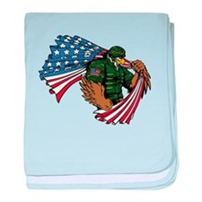 American Eagle Soldier baby blanket