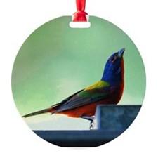 Male Painted Bunting 1 Ornament