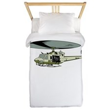 Military Helicopter Twin Duvet