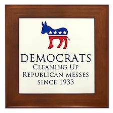 Democrats Cleaning Framed Tile