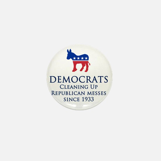 Democrats Cleaning Mini Button