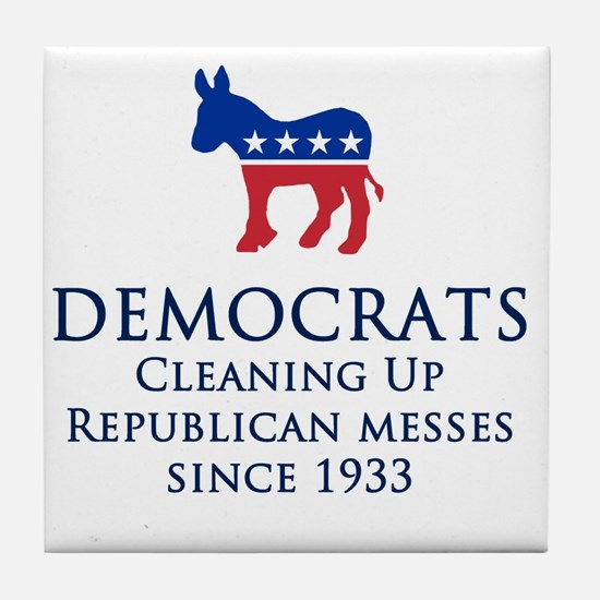 Democrats Cleaning Tile Coaster