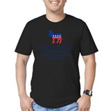 Anti republican Fitted Dark T-Shirts