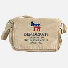 Democrats Cleaning Messenger Bag