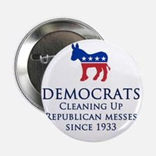 """Democrats Cleaning 2.25"""" Button"""