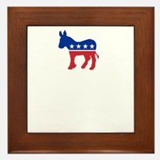 Democrats Cleaning - Black Framed Tile