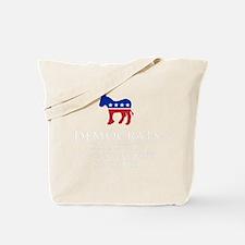 Democrats Cleaning - Black Tote Bag