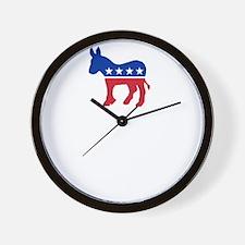 Democrats Cleaning - Black Wall Clock