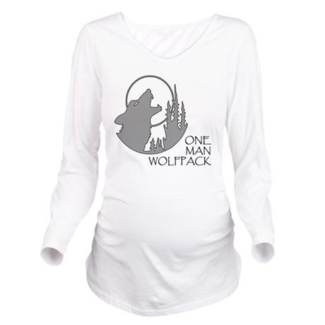 wolfpack Long Sleeve Maternity T-Shirt