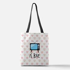 TV is Bae Emoji Polyester Tote Bag