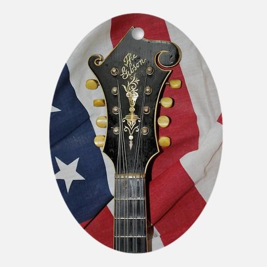 FramedPrintLarge_Gibson_Flag Oval Ornament