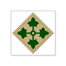 "4th Infantry Division Square Sticker 3"" x 3"""