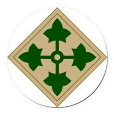 4th Infantry Division Round Car Magnet