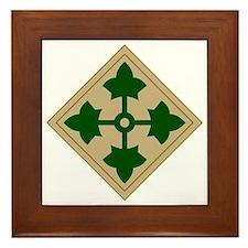 4th Infantry Division Framed Tile