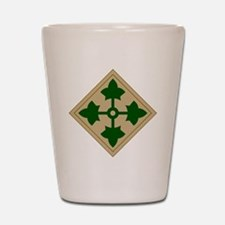 4th Infantry Division Shot Glass