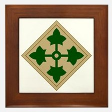 4th Infantry Division Framed Tile