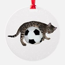 Cat Soccer - Ornament