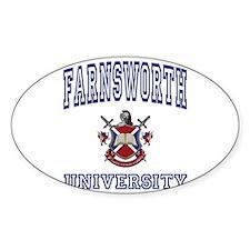 FARNSWORTH University Oval Decal