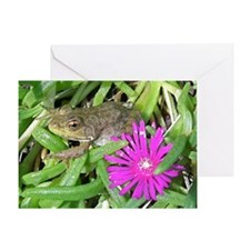 Leopard Frog Ice Plant Mousepad Greeting Card