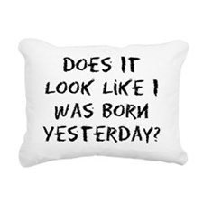 born_yesterday_eraser Rectangular Canvas Pillow