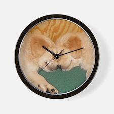 Golden Retriever Puppies Mousepad Wall Clock