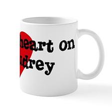 Heart on for Audrey Mug