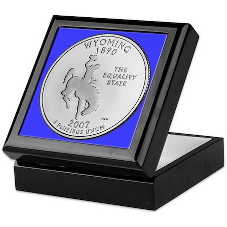 2007 Wyoming State Quarter Keepsake Box
