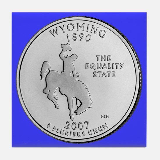 2007 Wyoming State Quarter Tile Coaster