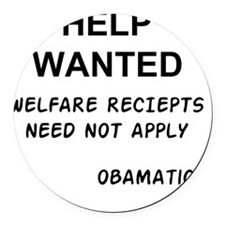 OBAMA_HELP_WANTED Round Car Magnet