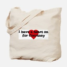 Heart on for Courtney Tote Bag