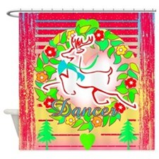 Reindeer Dancer Shower Curtain
