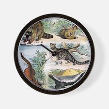 Four Mammals Wall Clock
