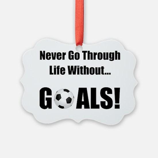 Soccer Goals Black Ornament