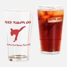 Rex Buddy Red Drinking Glass