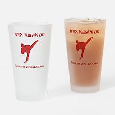 Rex Break Wrist Red Drinking Glass