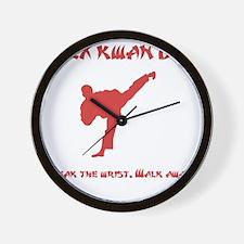 Rex Break Wrist Red Wall Clock
