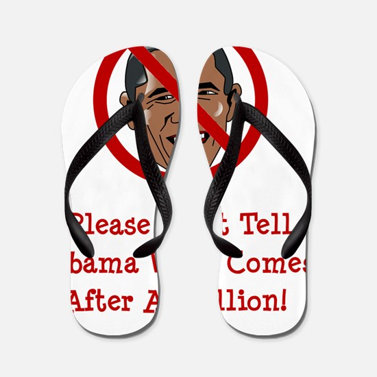 Obam Trillion Red Flip Flops