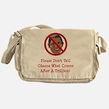 Obam Trillion Red Messenger Bag