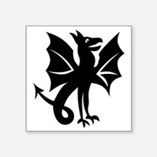 "Flying Dragon 4.eps Square Sticker 3"" x 3"""