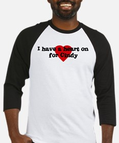 Heart on for Cindy Baseball Jersey