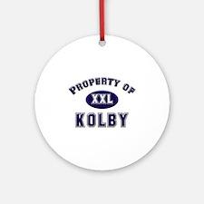 Property of kolby Ornament (Round)
