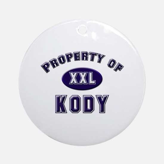 Property of kody Ornament (Round)