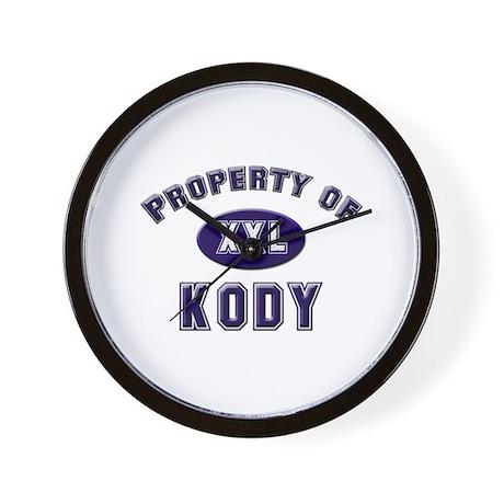 Property of kody Wall Clock