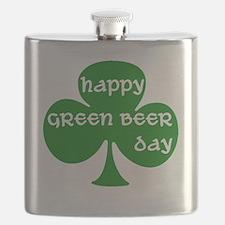 greenbeerdaywhite Flask